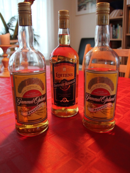 There are many different varieties of aquavit in Norway