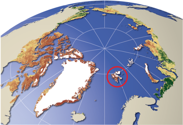 Svalbard lies in the Arctic circle. Source: UNEP/GRID-Arendal 2008